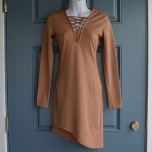 Light Brown Long Sleeve Dress by Divided Sz. 4